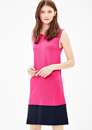 Jersey dress with colour blocking from s.Oliver