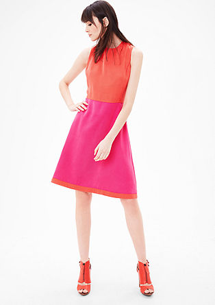 Kleid im Colourblocking-Look