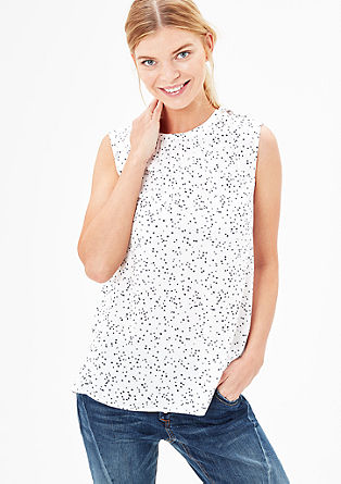 Top met print all-over