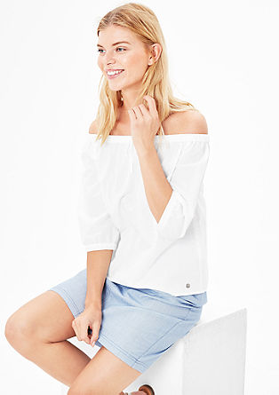 Off-the-shoulder blouse with texture from s.Oliver