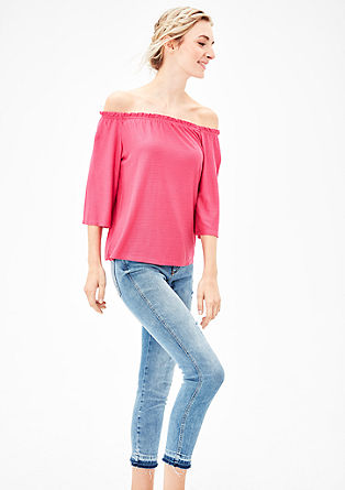Off-shoulder shirt met 3/4-mouwen