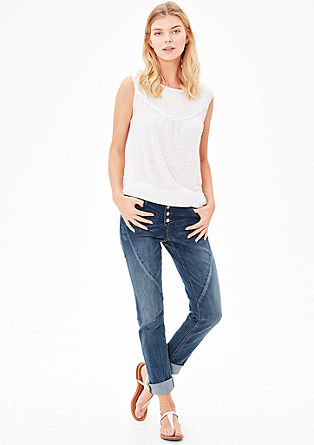 Smart Slim: jeans with button fly from s.Oliver