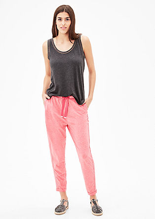 Ankle-length jersey trousers from s.Oliver