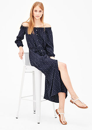 Crêpe dress with a minimal pattern from s.Oliver