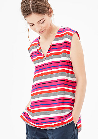 Blouse top with stripes from s.Oliver