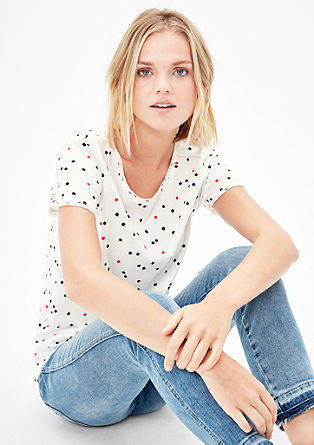 T-shirt with polka dots from s.Oliver