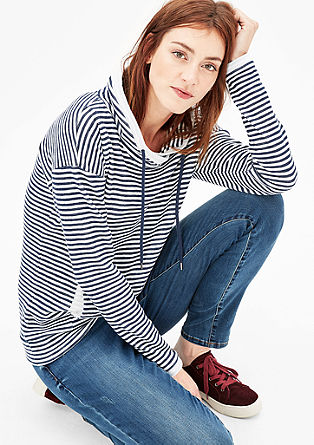 Double-faced sweatshirt with stripes from s.Oliver