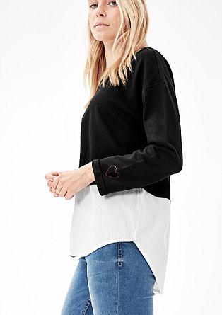 Sweatshirt pulover z detajlom bluze