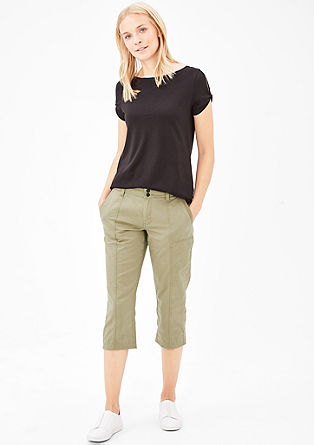 Smart Straight: 3/4-length trousers from s.Oliver
