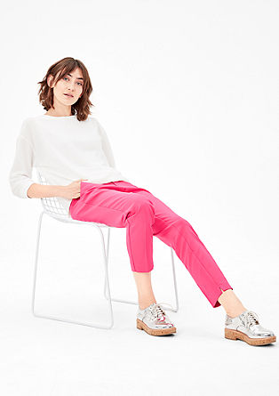Shape Ankle: Trousers with waist pleats from s.Oliver