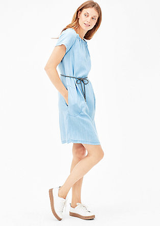 Off Shoulder-Kleid aus Denim