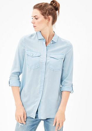 Soepele blouse van twill