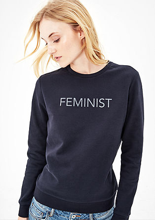 Sweatshirt with glamorous lettering from s.Oliver