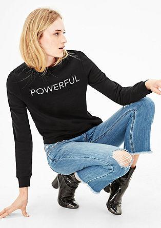 Sweatshirt mit Glamour-Lettering
