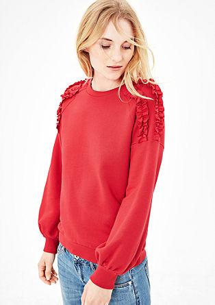 Sweatshirt met ruches