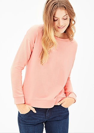 Sweatshirt van een materiaalmix