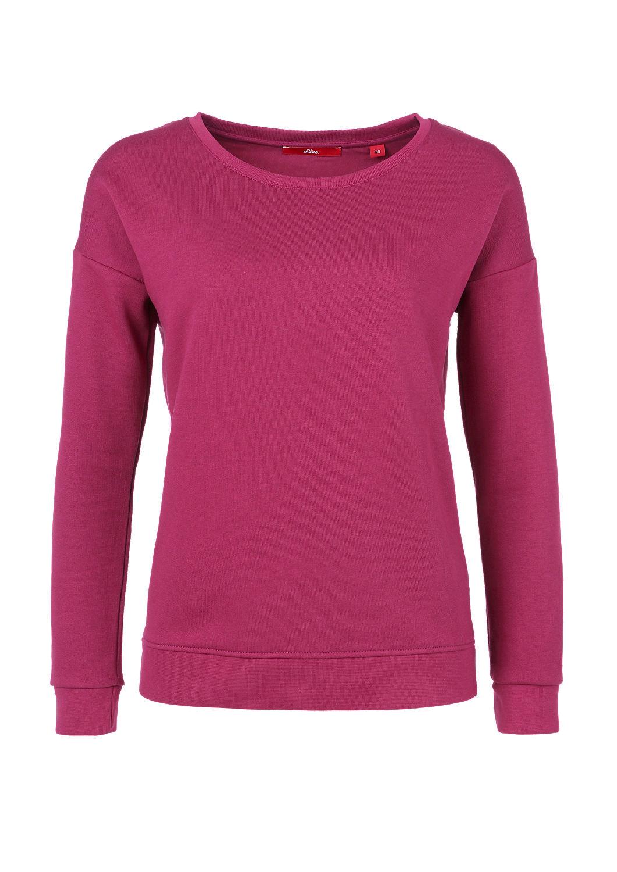 buy mixed fabric sweatshirt s oliver shop. Black Bedroom Furniture Sets. Home Design Ideas