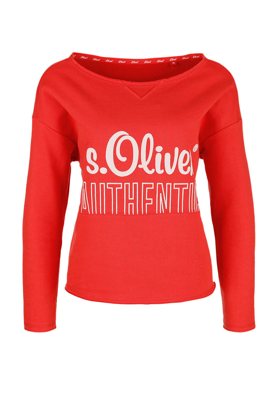 buy s oliver authentic sweatshirt s oliver shop. Black Bedroom Furniture Sets. Home Design Ideas