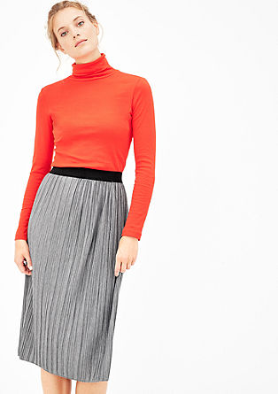 Pleated jersey skirt from s.Oliver