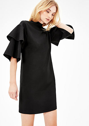Jersey dress with flounce sleeves from s.Oliver