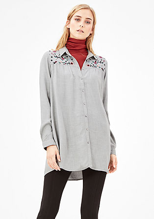 Longbluse mit Embroidery
