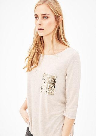 Melirana majica z bleščicami