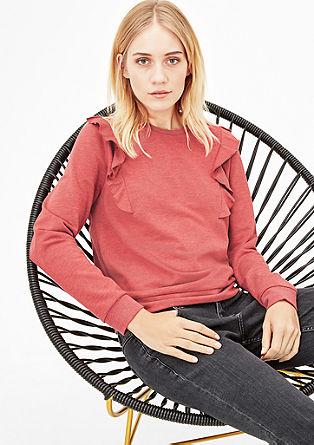 Sweatshirt mit Volant