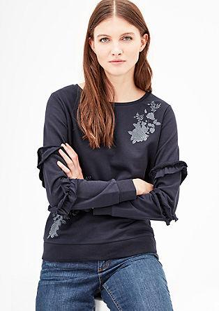 Sweatshirt mit Rüschen-Ärmeln