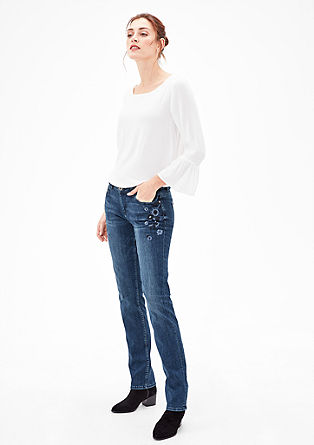 Smart Straight: Bestickte Denim
