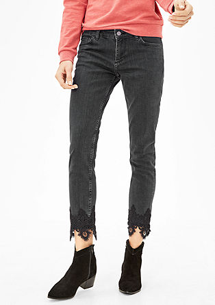 Shape Slim: Jeans with lace from s.Oliver