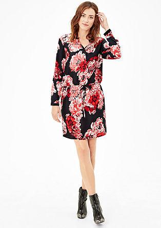 Blouse dress with velvet details from s.Oliver