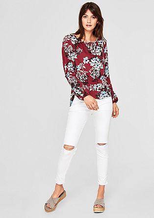 Viskose-Bluse mit Blütenprint