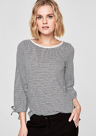 Glittery striped top from s.Oliver