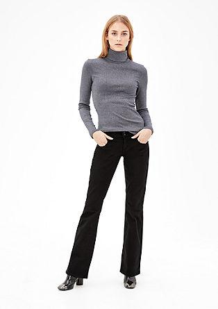 Shape Bootcut: keprové kalhoty