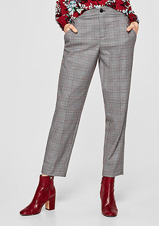 Boyfriend Ankle: checked trousers from s.Oliver