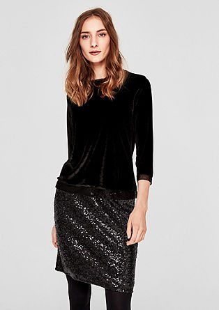 Mini skirt with sparkling sequins from s.Oliver