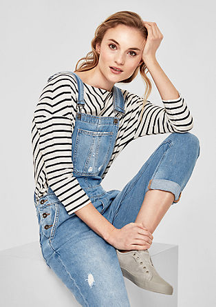 Lyocell denim dungarees with distressed areas from s.Oliver