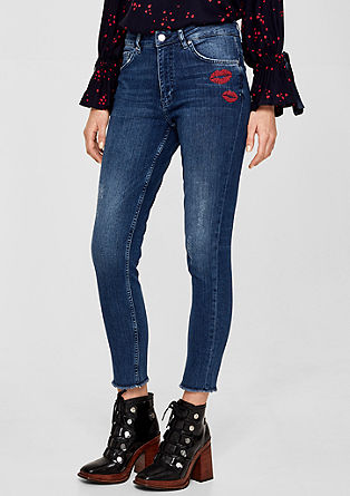 Skinny jeans with embroidery from s.Oliver