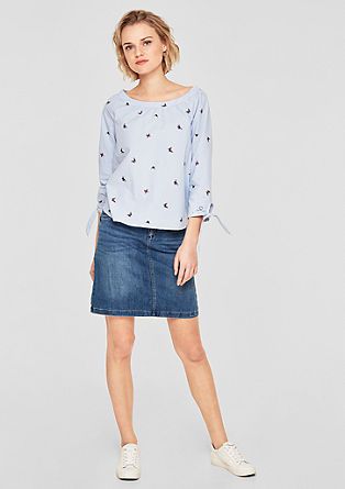 Denim skirt in a five-pocket design from s.Oliver