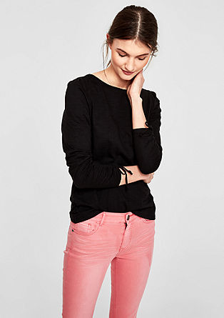Long sleeve top with gathered sleeves from s.Oliver