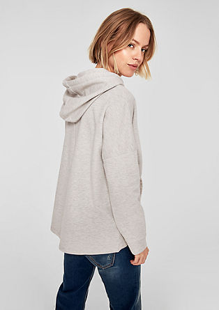 Oversized hoodie with a glitter effect from s.Oliver