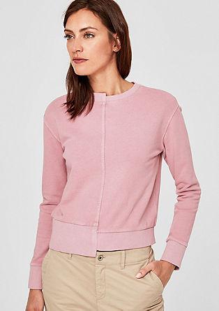 Asymmetric Sweatshirt in Pigment Dye