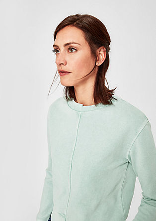 Asymmetric sweatshirt with a pigment dye from s.Oliver