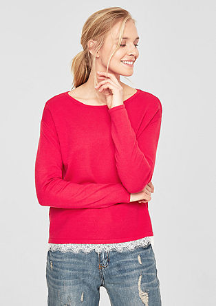 Fine knit jumper with lace from s.Oliver