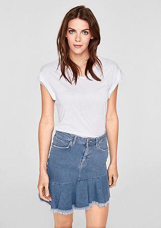 Asymmetrischer Jeansrock