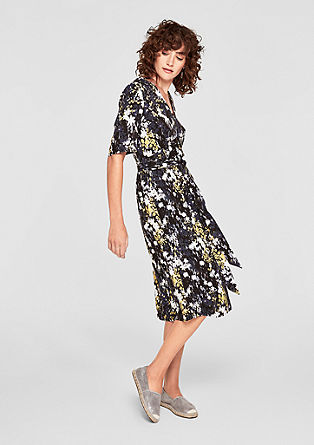 Patterned dress with a belt from s.Oliver