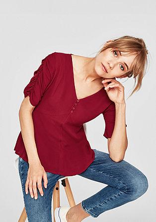 Fijne blouse met knoopsluiting
