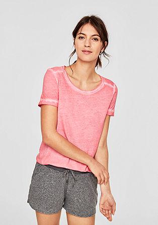 Pigment Dye-Shirt mit Lurex