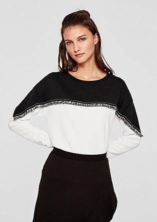 Sweatshirt im Colour-Blocking-Look