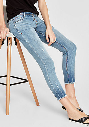 Shape Ankle: Denim im Used-Look